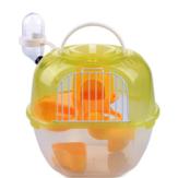 Klatka dla zwierząt domowych Przenośna klatka dla zwierząt chomika w kształcie klatki podwójnej Deluxe Plastikowa klatka dla chomika w kształcie deluxe z tworzywa sztucznego