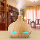 Indoor 300ML Wood Grain Auto Power Off 7 Colors LED Light Essential Oil Aroma Diffuser Air Purifier BAP Free Air Humidifier