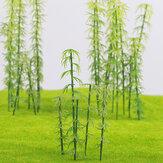 20-teiliger Modell-Bambusbaum im HO / OO-Maßstab zum Erstellen von Dekorationen für die Architektur von Straßenszenen
