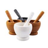Mortar + Pestle Grinder Pounder Press Mincer Spice & Herb  Crusher Pedestal Bowl Pepper Grinder
