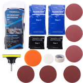 Visbella Car Vehicle Motorcycle Headlight Lamp Lens Cleaning Restoration DIY Kit