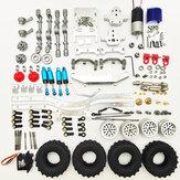 1/16 4WD Kit smontato telaio auto in metallo RC aggiornato per veicoli fuoristrada parti fai da te