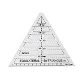 Hexágono Reglas de diamante Triángulo Regla Acolchado transparente Costura Patchwork Craft Escala Regla DIY Hecho a mano Sastre casero Costura herramientas
