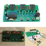 5V-12V AT89C2051 Seis Digital LED DIY Kit de Reloj Electrónico Multifuncional