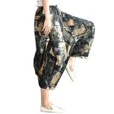 Originální originální folk Harem jarní volné velké Yoga Wide Nohy kalhoty