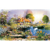 1000-Piece Oil Painting Landscape Cartoon Animation House Puzzle For Adult Intelligence without Glue