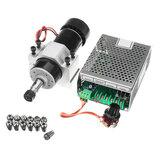 Motore mandrino di raffreddamento ad aria CA 110-220 V 500 W con morsetto da 52 mm e regolatore di velocità dell'alimentatore