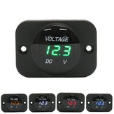 12V-24V Waterproof LED Volt Meterr Voltage Meter Gauge For Car Motorcycle Boat Marine