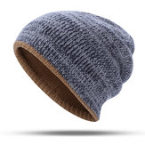 Double-Sided Wearing Double-Layer Knit Hat Beanie Cap