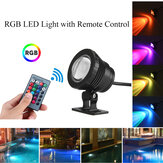 20W RGB LED Fonte de luz Piscina Pond Spotlight Underwater Waterproof + remoto
