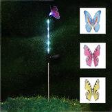 3 SZTUK Zasilany energią słoneczną Motyl LED Trawnik Światła Stawka Ogród Yard Odkryty krajobraz Lampa Wystrój