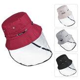 Şeffaf Ayarlanabilir Toz geçirmez Şapka Anti Spitting Splash Proof Balıkçı Şapkası