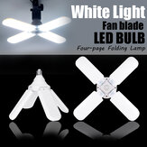 E27 Deformable Ceiling Light Fan Foldable Garage Lights Bulb Shop Workshop Lamp