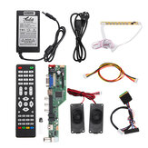 T.SK106A.03 T.SK105A.03 Universal LCD LED TV Controller Driver Board +7 Key button+1ch 6bit 40Pins LVDS Cable+Speaker+EU Power Adapter