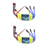 2PCS Brusheless ESC 30A Speed Control 2S 3S T-Plug JST for 2212 Brushless Motor KT SU27 RC Airplane FPV Racing Drone RC Car Boat