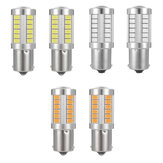 2 UNIDS 1156 BA15S LED Coche Freno Luces de marcha atrás Señal de giro Lámpara Bombilla 12V 5W Rojo / Blanco / Amarillo