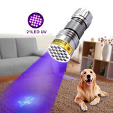 XANES U03 21LEDs 400nm Violet UV LED Flashlight Fluorescence Sterilization Banknote Detection Pen