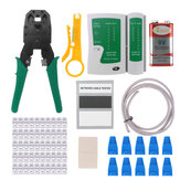 Network Ethernet LAN Kit RJ45 Cat5 Cat6 Cable Tester Crimper Crimping Plier Tool Set