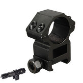25.4mm Scope Rings 20mm Flashlight Holder Tactical Flashlight Mount Laser Sight Scope Clip Hunting Fishing Cycling