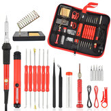 NEWACALOX 26Pcs 60W Multifunctional Electric Solder Iron Kit Screwdriver Desoldering Pump Tip Wire Pliers + Tool Bag  EU Plug/US Plug