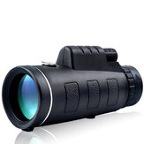 IPRee® 40X60 Ulepszony Monocular Outdoor z kompasem HD Optic Low Light Level Night Vision Telescope Camping Travel