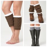 Unisex Winter Plus Velours Enkelkuit Calf Warmer Pads Sokken