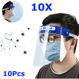 10 Pcs Transparan Adjustable Full Face Shield Masker Anti-kabut Anti-meludah Plastik