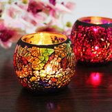 Mosaïquebougeoirromantiquechandellesdînerde mariage fête bougie lampe décoration de la maison
