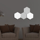 4x Modular LED Touch Wall Lamp Hexagonal Honeycomb Magnetic Quantum Night Light