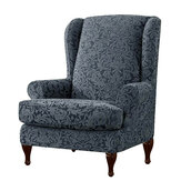 All-inclusive Inclinado Braço Inclinado King Back Chair Cover Elastic Poltrona Wingback Wing Sofá Back Chair Protetor SlipCover