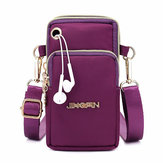 Women Nylon Mini Phone Bags Portable Leisure  Crossbody Bag