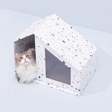 Camaparamascotasdepapelrenovable reemplazable de Furrytail Little House Gato de Xiaomi Youpin- Blanco