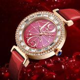 SKMEI 9158 Rhinestone Женское Наручные часы Shell Dial Водонепроницаемы Элегантные Дизайн кварцевые часы