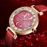 SKMEI 9158 Rhinestone Women Wrist Watch Shell Dial Waterproof Elegant Design Quartz Watch