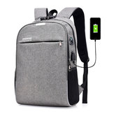 20L Anti-theft Men Laptop Notebook Backpack USB Charging Port School Bag With Password Lock