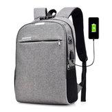 20L Anti-Vol Hommes Portable Sac À Dos Ordinateur Portable USB Port De Charge Sac D'école Avec Mot de Passe Serrure