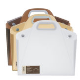 A4 Durable Transparent File Folder Files Bag Document Folder Double Buckle School Office Appliance