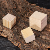 1.5/2/3/4cm Pine Wood Square Block Natural Soild Wooden Cube Crafts DIY Puzzle Making Woodworking