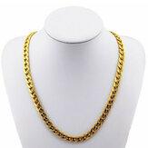 18K vergoldet 10mm Männer Kette 24inch Halskette Schmuck