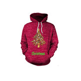 Plus Size Casual Women C Tree Hooded Sweatshirts
