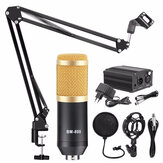 BM800 Microphone Condenser Sound Recording Microphone With Phantom Power For Radio Braodcasting Singing Recording KTV Karaoke Mic