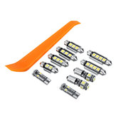 10Pcs Car LED Kit lampadine interne per VW MK4 Golf GTI Jetta 1999-2005