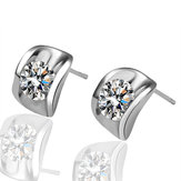 JASSY® Inlay Delicate Shine Zircon Ear Stud Elegant Earring