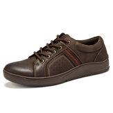 Menico Men Couro de microfibra Confortável Antiderrapante Sapatos Casuais