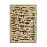 Cartaz de Coleção Armas de Fogo Papel Kraft Papel Cartaz de Parede Arte da Parede DIY 21 Polegadas X 14 Polegadas