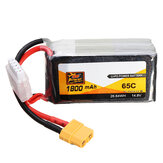 ZOP Power 14.8V 1800mAh 65C 4S Pin Lipo XT60 Cắm cho RC FPV Racing Drone