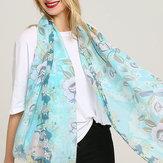 Damen Vogue Baumwolle Graffiti Printting Schal Plus Größe Schal