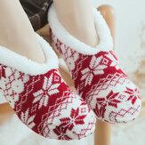 Dames Meisjes Winter Plus Fluweel jacquard Antislip Yoga Sokken