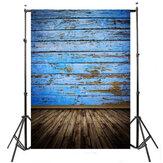 5x7ft 2.1x1.5cm Niebieskie Podłogi Drewniane Fotografia Tło Studio Fotograficzne Prop