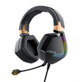 BlitzWolf® BW-GH2 Gaming Headphone 7.1 Channel 53mm Driver USB Wired RGB Gamer Headset with Mic for Computer الكمبيوتر PS3/4